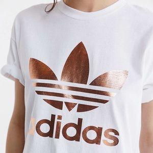 Adidas Rose Gold Trefoil Shirt